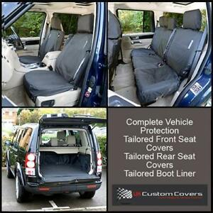 LAND-ROVER-DISCOVERY-3-TAILORED-BOOT-LINER-FRONT-REAR-SEAT-COVERS-022-191-157