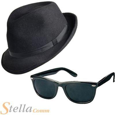 Blues Brothers Gangster Lunettes de soleil Adulte accessoire robe fantaisie