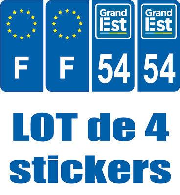 4 Stickers Logo Region + F Immatriculation Logo Grand Est 54 Meurthe Et Moselle Per Vincere Una Grande Ammirazione Ed è Ampiamente Fidato In Patria E All'Estero.