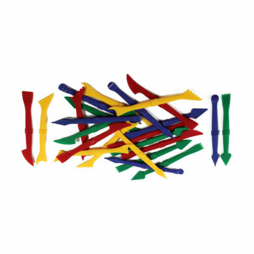 Pack of 24 CT6376 Creation Station Plastic Modelling Tools in 4 Designs