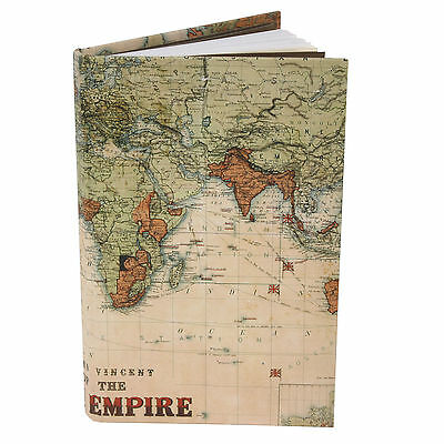 British Empire Map Notebook Fathers Day Gift Ideas for Him Men Dad Grandad