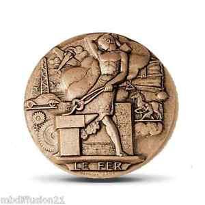 Enthousiaste Medaille**monnaie De Paris**le Fer**bronze- Ridet(125 Gr) Moins Cher