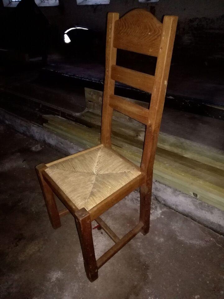 Spisebordsstol, Eg og flet