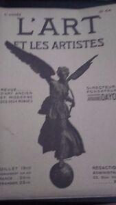 Revista ARTE Y Las Artistas A. Dayot N º 64 6EME Annee Julio 1910 París