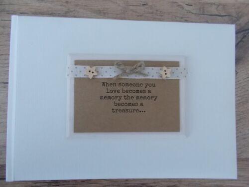 Family Condolence Remembrance Photo Album Gift Memory Book Scrapbook Keepsake