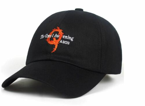 Q Cap Qanon 100/% Cotton Unisex Fashion Embroidery Great Awakening Baseball Hats