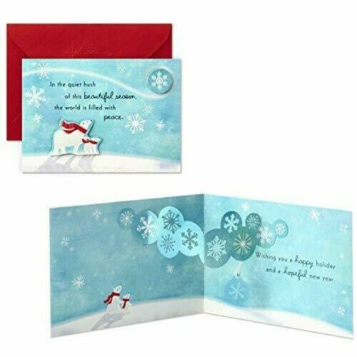 5 Christmas Cards Paper Wonder Pop Up Hallmark Set With 5 Envelopes