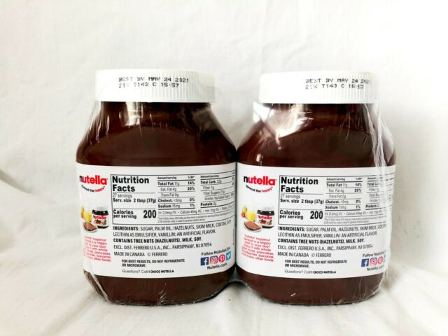 Nutella Hazelnut Spread With Cocoa 33 5 Oz 2 Count 1 9kg 4 2lbs Exp May 2021 For Sale Online