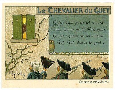 CHROMO ALCOOL DE MENTHE DE RICQLES H.GERBAULT FRERE JACQUES