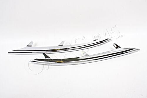 Genuine Front Bumper Grill Chrome Trim Mouldings PAIR Fits VW Touareg 2007-2010