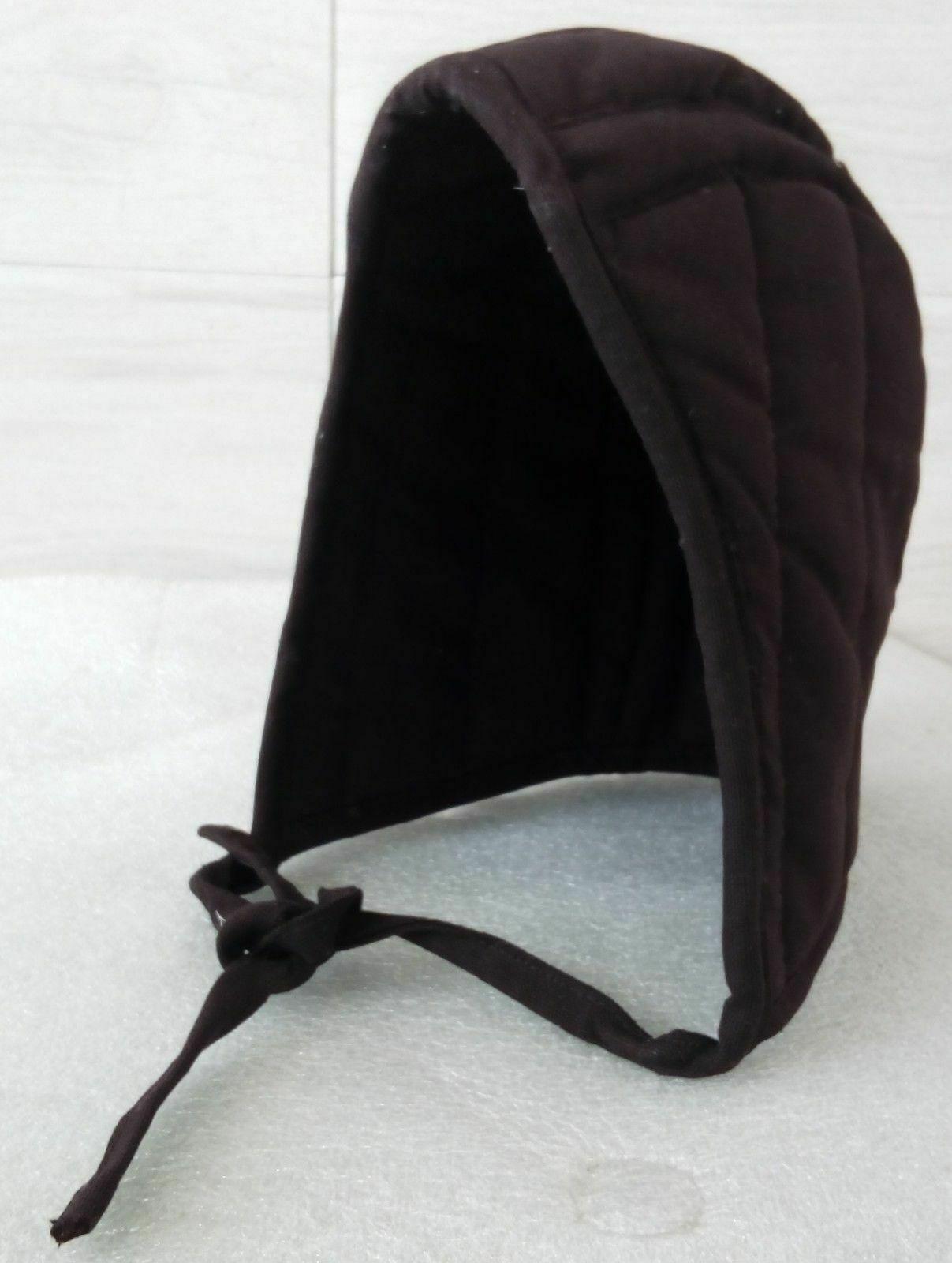New Cotton Inner Medieval Helmet Padded Reenactment Armour Arming Black Cap