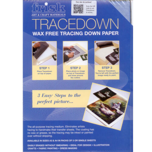 Tracedown Transfer Paper Wax Free A3 Assorted 5 Pack