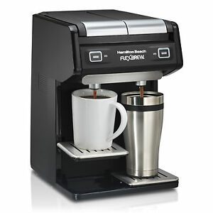 Single Serve Coffee Maker That Uses Ground Coffee : Hamilton Beach Dual FlexBrew Single Serve K-Cup or Grounds Coffee Maker 49998 eBay