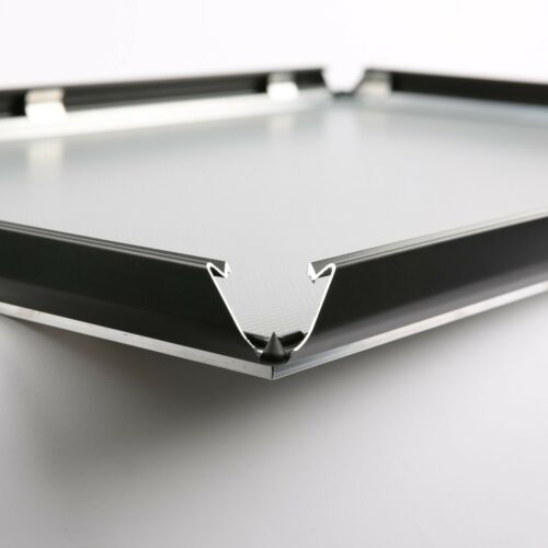 """Snap Poster Frame 1.25/"""" Aluminum Front Loading Wall Mount 27x40 Black"""