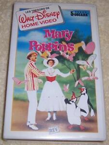 Mary-Poppins-VHS-Video-SECAM-Walt-Disney-French