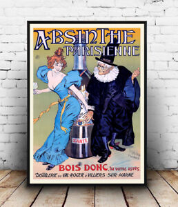 Absinthe-Vintage-French-drink-poster-Wall-art-poster-reproduction