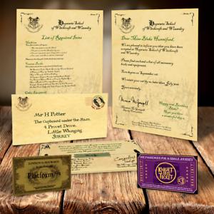 Harry Potter Hogwarts Acceptance Letter Personalised Gift Free Express Ticket Ebay