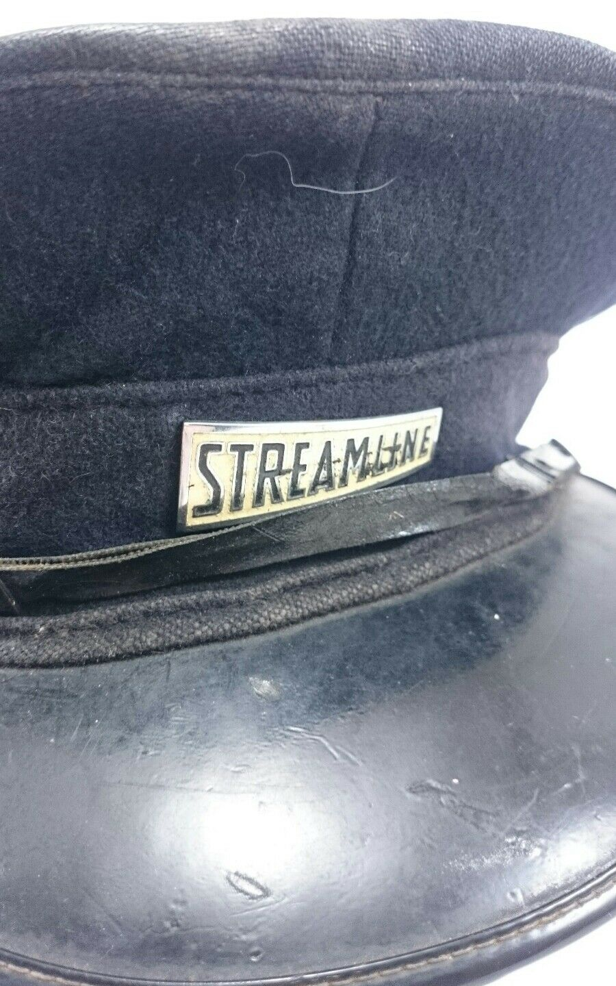 STREAMLINE Coach Bus Conductor Black Cap England Vintage Collectible Black Conductor Cloth Men's b6f6c6