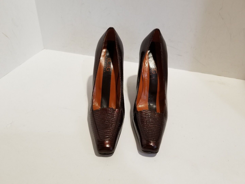 BCBGMAXAZRIA Womens Reddish 5 Brownish Leather Heels Size 5 Reddish B 39282c