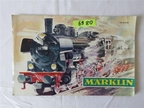 Märklin Modelleisenbahn Katalog 1967/68 D DM Original mit Gutschein