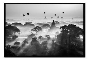 Balloons-Over-Bagan-Framed-Cork-Pin-Notice-Board-With-Pins