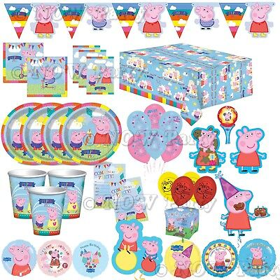 Peppa Pig Happy Birthday Party Supplies Tableware Balloons Decorations Banners Ebay