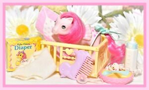 ❤️My Little Pony MLP G1 Vtg Baby Heart Throb Beddy Bye BBE Accessories Pegasus❤️