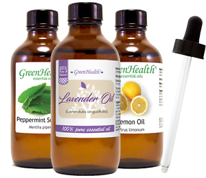Essential Oil 4 oz with Free Glass Dropper, All Natural Uncut, 50+ Oils