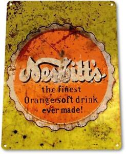 Nesbitts-Orange-Soda-Cola-Drink-Kitchen-Metal-Decor-Sign