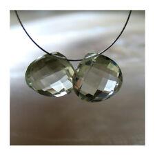 2  hell grüne amethyst heart briolette perlen, kalibriert, 12x12x5mm