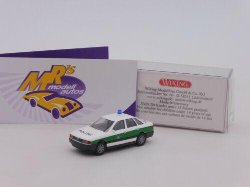 """Wiking 0864 43 # AUDI 80 Limousine in weiß-grün /"""" POLIZEI Bayern /"""" 1:87 NEU"""