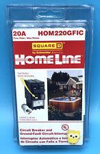 New Circuit Breaker Square D Homeline Hom220gfi Hom220gfic 20 Amp 2 Pole Gfci