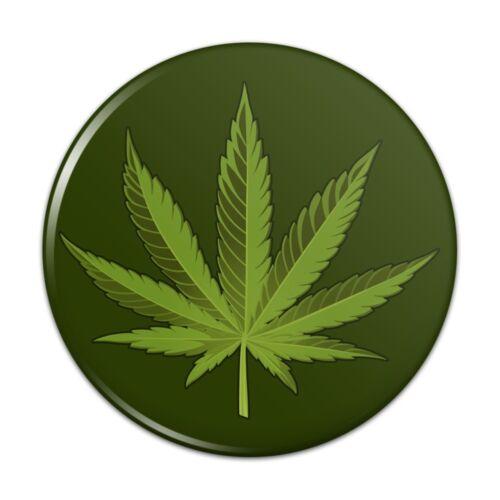 Marijuana Leaf Design Cannabis Pot Kitchen Refrigerator Locker Button Magnet
