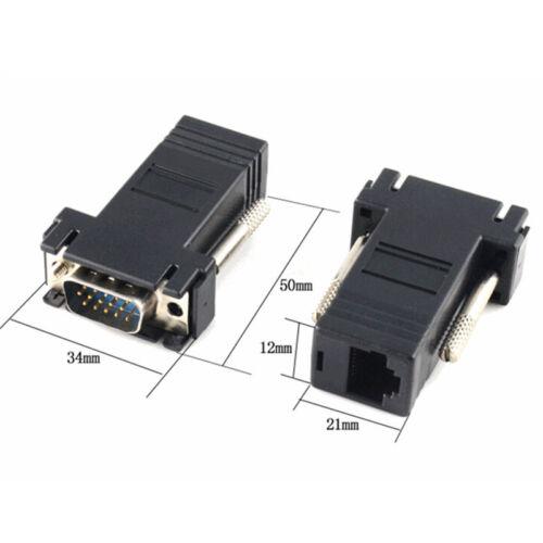 Extender VGA RGB HDB Maschio Alla LAN CAT5 CAT6 RJ45 Cavo di rete Adattatore Yh