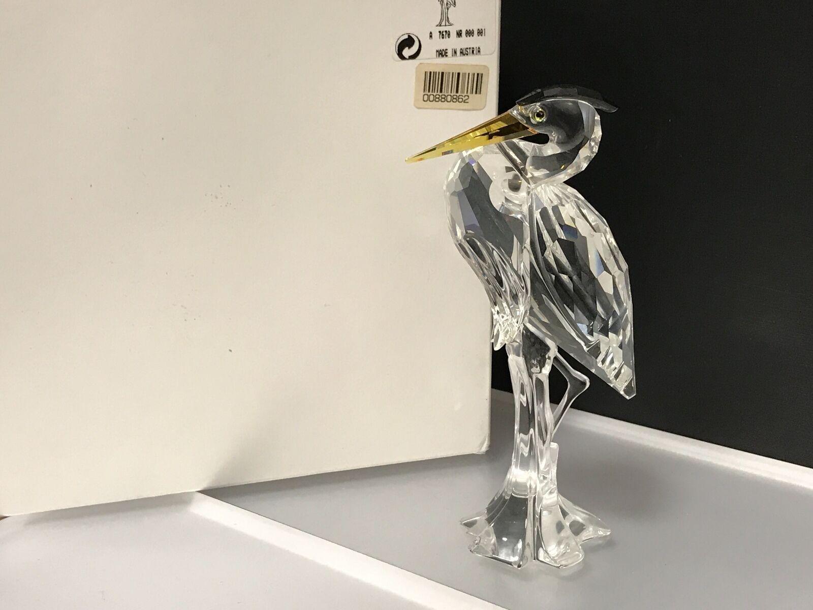 Swarovski Figurine Poisson Hérons 15 neuf cm avec neuf 15 dans sa boîte & certificat. Excellent état 10c64a