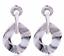 Femmes Boho Statement Acrylique Creux Géométrique Grand Cercle Goutte Dangle Boucles d/'oreilles