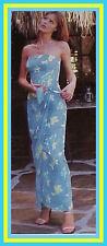 VICTORIA'S SECRET VINTAGE FLORAL BANDEAU SARONG MAXI DRESS 4