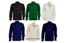 Scottish GHILLIE KILT SHIRT, Choice of 8 Colors Jacobite Jacobean Size S To 8XL