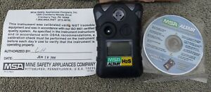 MSA Altair Hydrogen Sulfate Gas Monitor H2S NEEDS NEW BATTERY AND CALIBRATED