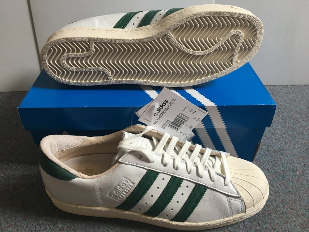 Adidas Superstar Années 80 Recon Originals-taille 8 Uk New Boxed-deadstock B41719