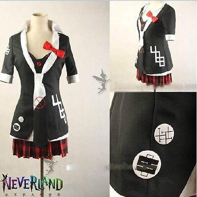 Hot Game Dangan ronpa Enoshima Junko Cosplay Costume Full Set Free Shipping
