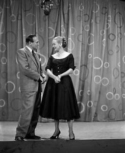 The Jack Benny Show 1950s withJack Benny, Faye Emerson OLD TV PHOTO