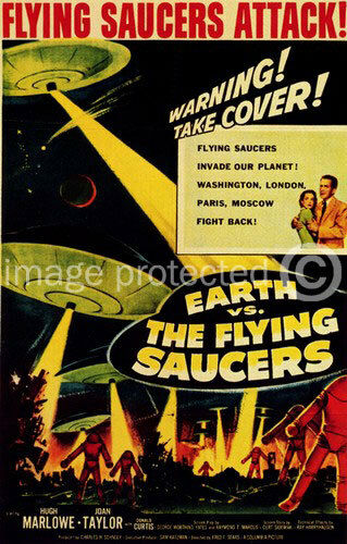 The Flying Saucers Vintage Movie Poster Earth vs
