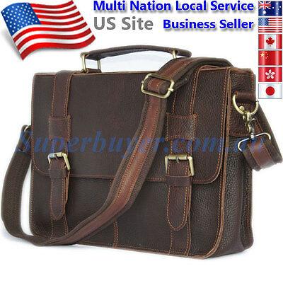 """Handmade Vintage Genuine Leather Briefcase Messenger 13"""" Laptop Bag DS281-US"""