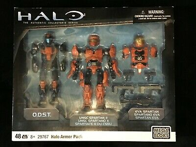 Mega Bloks Halo Armor Pack UNSC Spartan II /& EVA Spartan Armor 29767 6 Inch Magnetic Action Figure with ODST