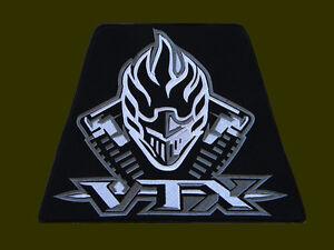 "XL HONDA VTX WHITE EMBROIDERED BACK PATCH ~11"" x 8-3/8"" BORDADO PARCHE AUFNÄHER"