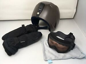 Unisex-Youth-Jr-Lot-Of-3-Pieces-Giro-Snow-Goggles-Boeri-Ski-Helmet-Mittens