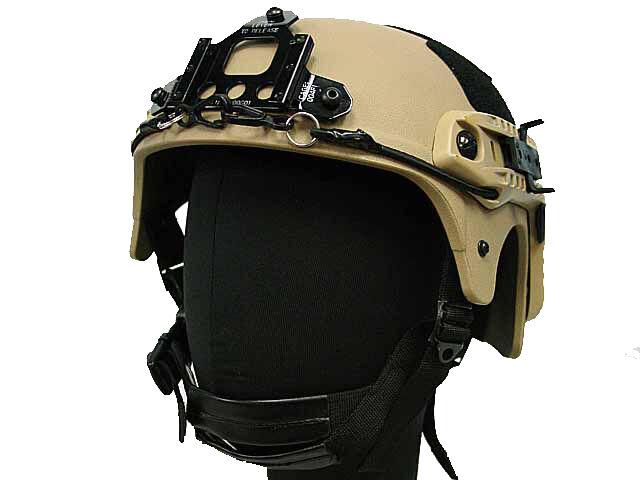 Tactical IBH Helmet Airsoft  NVG Mount Side Railway Tan