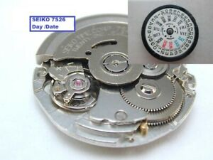 New-Seiko-Automatic-7-S-26-A-21-Jewels-Watch-Movement-Day-and-Date