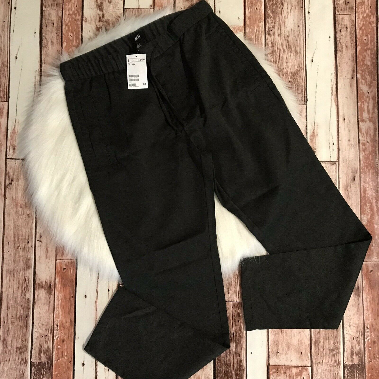 H&M Pants Olive Green Size 33 R New With Tags